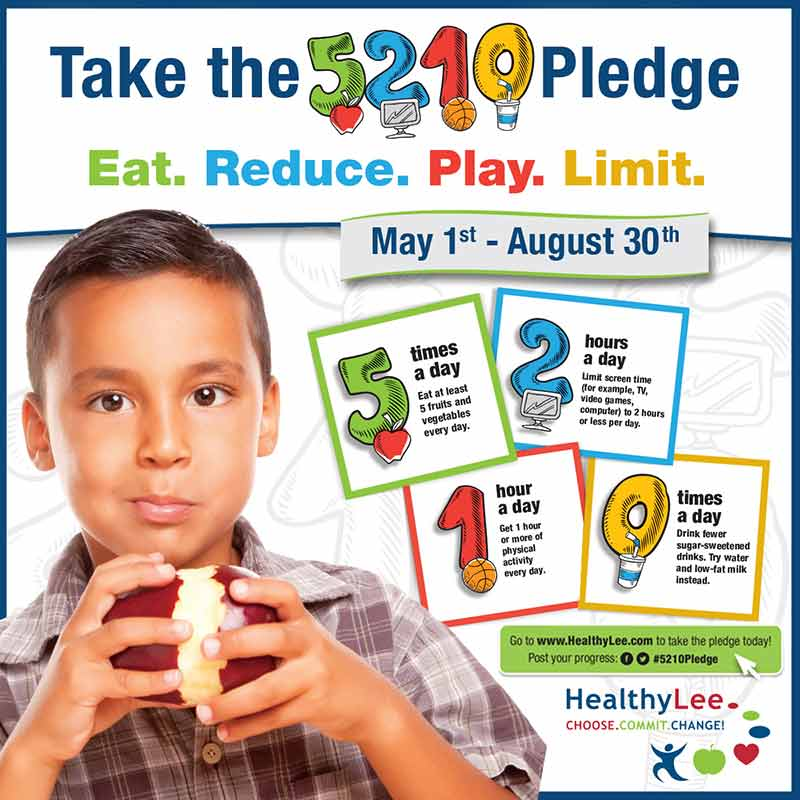 Healthy Lee   Naples Daily News article: Healthy Lee coalition encouraging residents to take the 5210 Pledge
